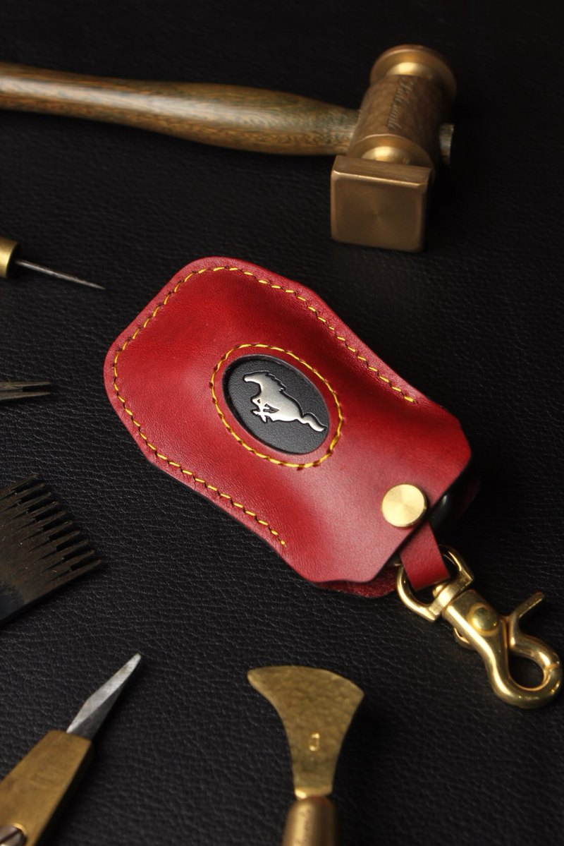 [Poseidon boutique handmade leather goods] MUSTANG Mustang car key holster hand-made