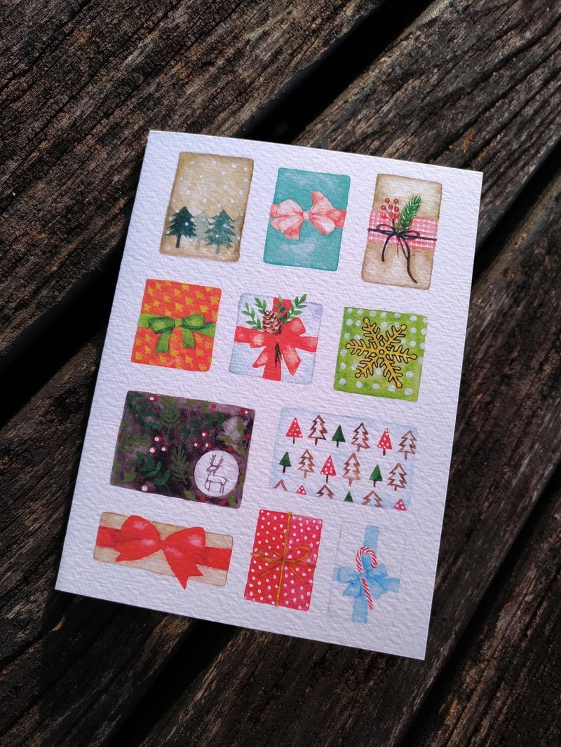 Watercolor Christmas Gift Card (Print)