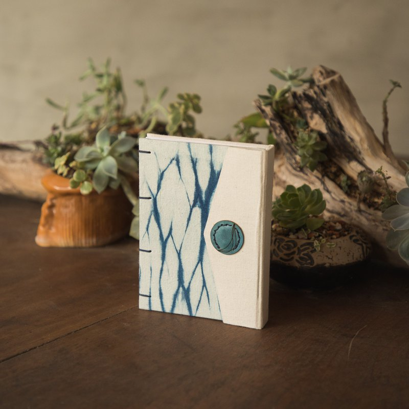 Strand dyed water wave X Coptic sewing handmade book (plus book cover). Notebook/booklet/handbook