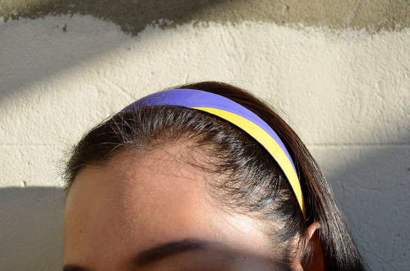 Volleyball x headband / wide version / mikasa yellow blue section number 005