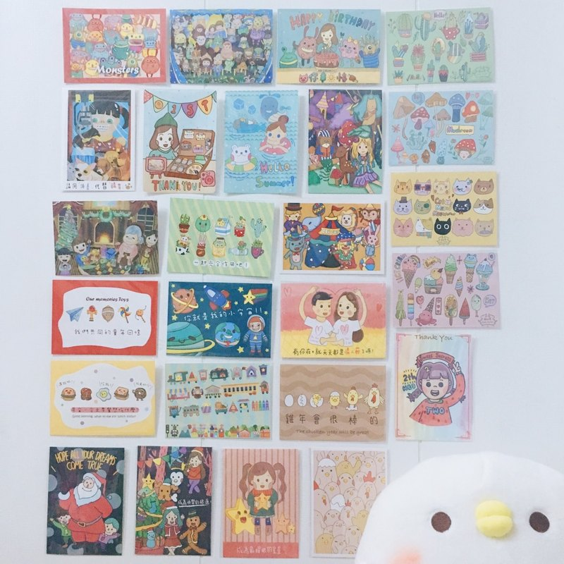 Whole shop postcard buy four get one free