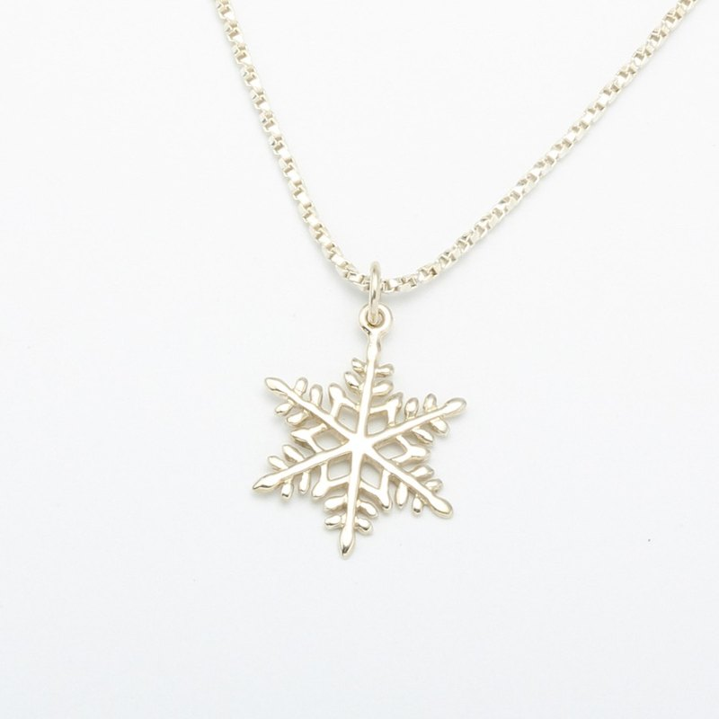 Snowflake snow s925 sterling silver necklace Valentine's Day gift