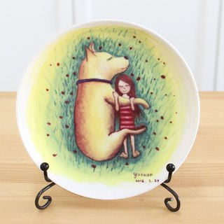 5-inch porcelain painted - hug / bone china / microwavable / through the SGS