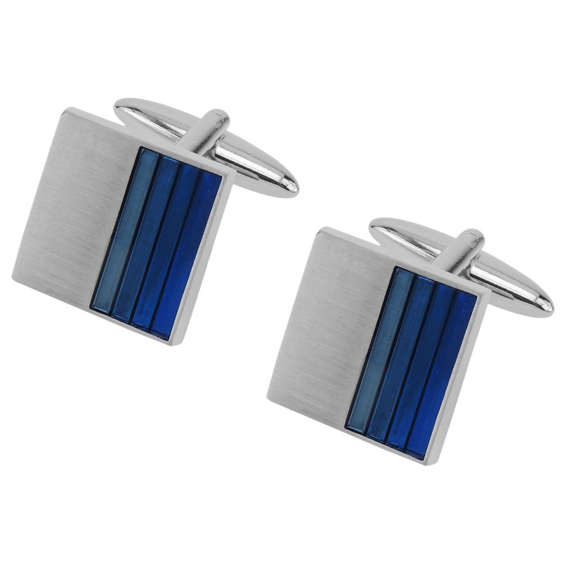 Gradient Blue Enamel Cufflinks