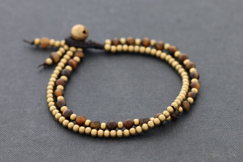 Tiger Eye Stone Basic Bracelets Strand Golden Rich Bronze