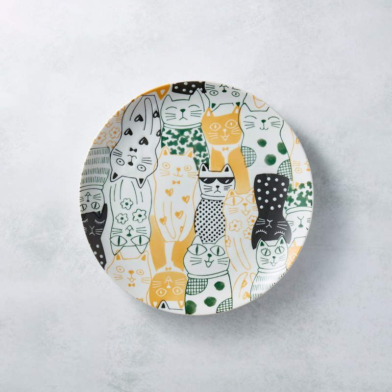 There is a kind of creativity - Japan Meinong - Cool Flower Cat Plate - Yellow
