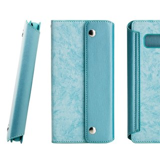 CASE SHOP Samsung Galaxy Note8 Magnetic Suction Handbag Side Strike Stand Vertical Leather Case - Blue Green (4716779658309)