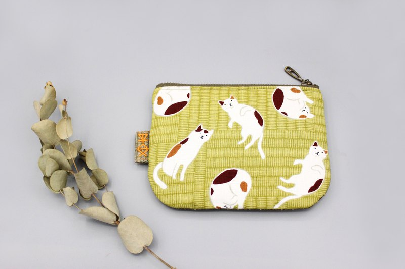Peaceful little music wallet - tatami on the cat daily, double-sided two-color small wallet