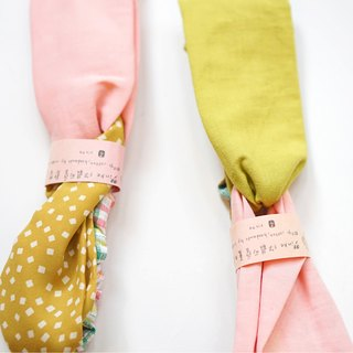 "YInke ""your most lovely"" hair band - mustard little x pink / yellow green x pink"