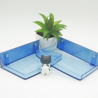 Magnetic suction dressing _ double into _ half and half high storage box - blue