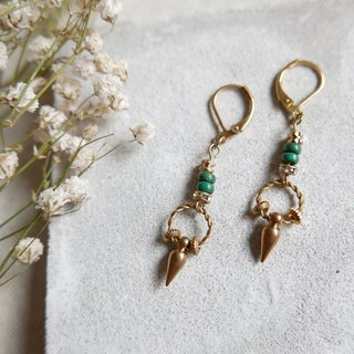 Sharpened brass earrings