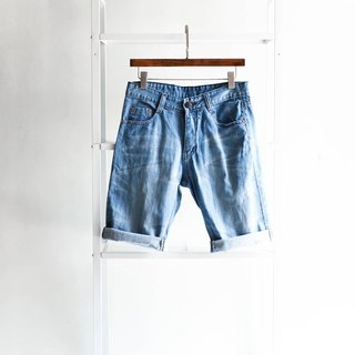 River water mountain - levis 523 / W30 Shiga Qingqing Iceland blue cool summer day cotton tannin antique shorts ancient leather denim pants vintage