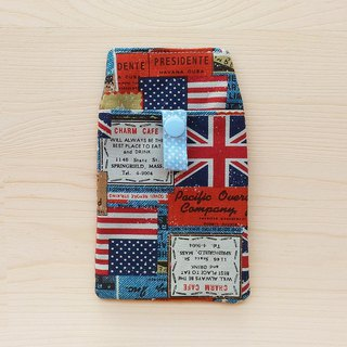 National flag denim pocket pencil bag