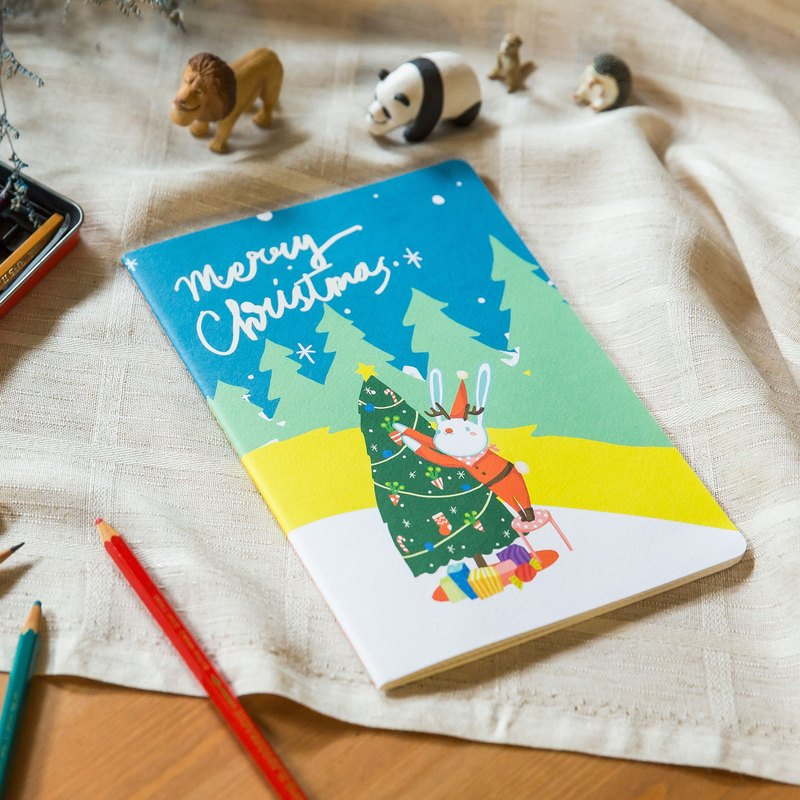 Christmas Series* Wishing Christmas Tree A5 Car Line Notebook