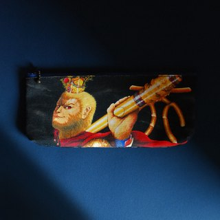 Brave fearless monkey king pencil bag