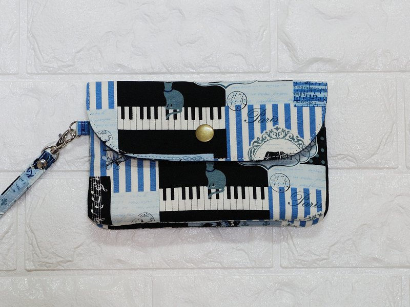 Play cloth hand made. Cat & Piano Wallet Coin Purse Clutch