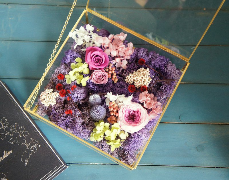 Hand-made heart is not withered flower greenhouse flower gift box (birthday wedding wedding arrangement wedding gift)