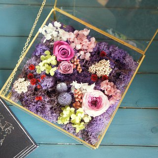 Hand-made dried flower / not withered series ~ heart of the heart is not withered greenhouse flowers gift box (stock) / Valentine's Day gift / wedding arrangements / business activities layout / birthday gift / wedding gift / store layout ~