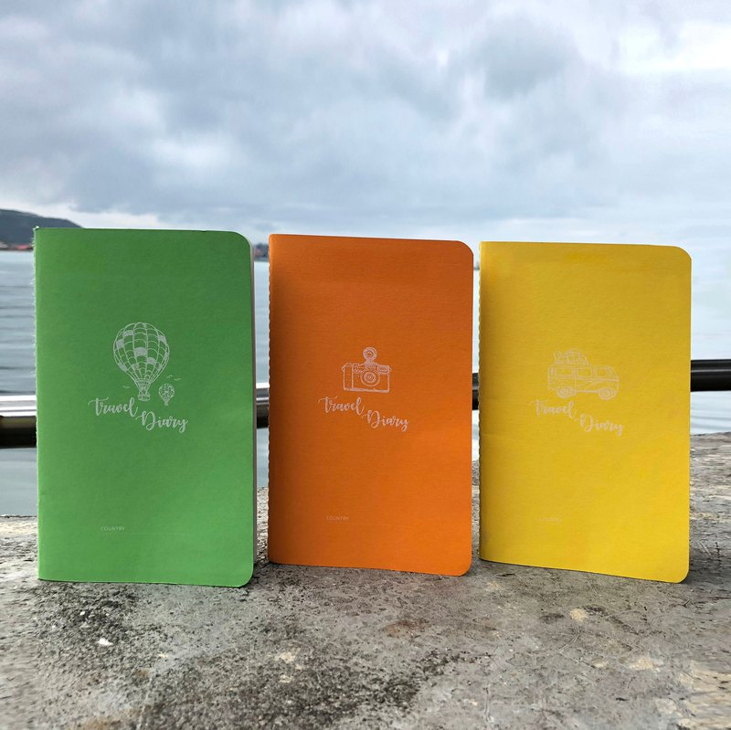 Travel handbook threading notebook designer small fresh yellow orange green