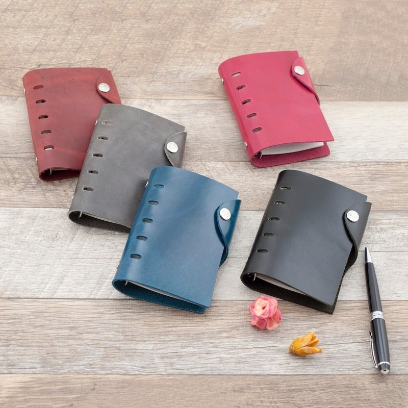 Be Two ∣ Handmade Leather Notebook/A7 Loose-leaf Journal/Leather Organizer/Universal Handbook