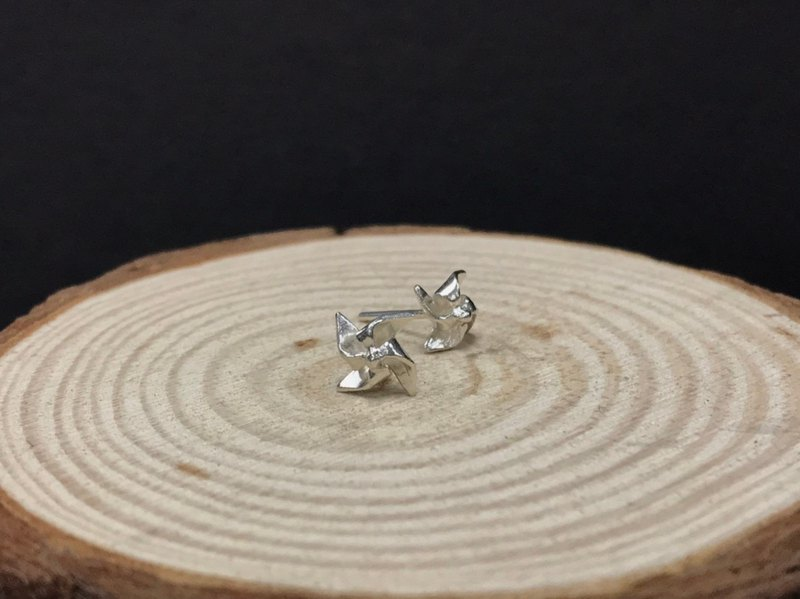 999 sterling silver windmill earrings