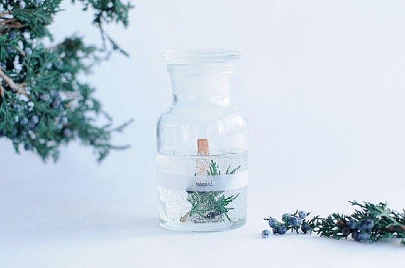 【杜松子精油100%,森林香味,發聲香薰蠟燭】BOTANICAL BOTTLE