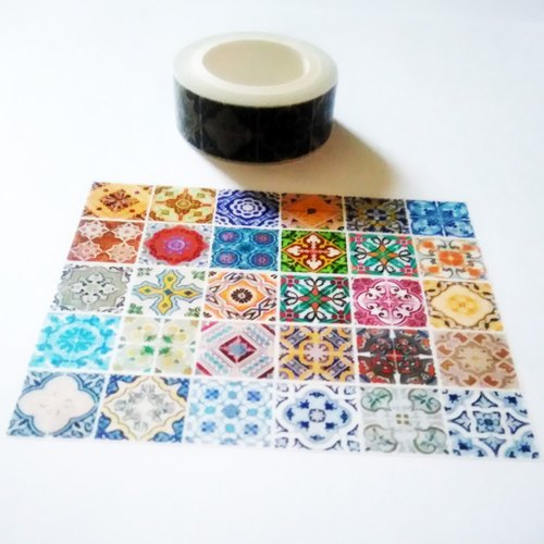 Customized Mini Washi Tape Barcelona Tiles
