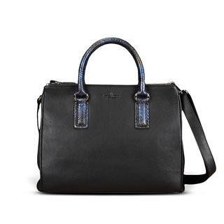 STORYLEATHER Spot Style 6550 ppython aniline leather handbag snakeskin &
