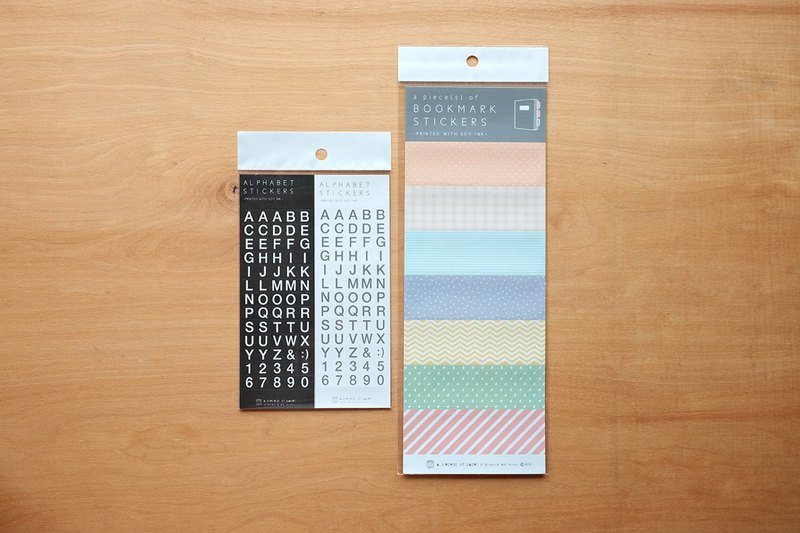 ALPHABET STICKERS & BOOKMARK STICKERS SET