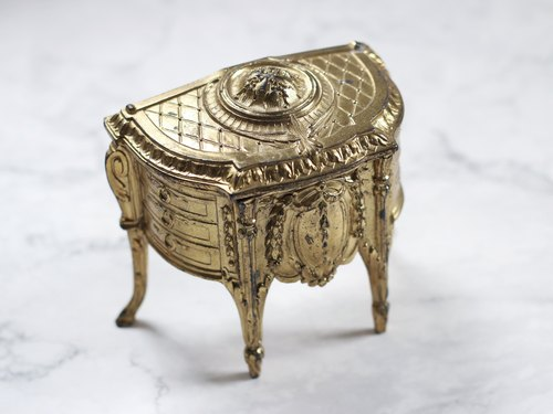 Antique / retro / brass jewelry box
