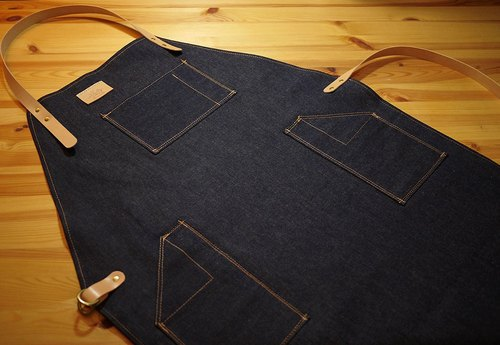 Kojima tannins Apron Denim Apron - Order exclusive four - seats Yusheng