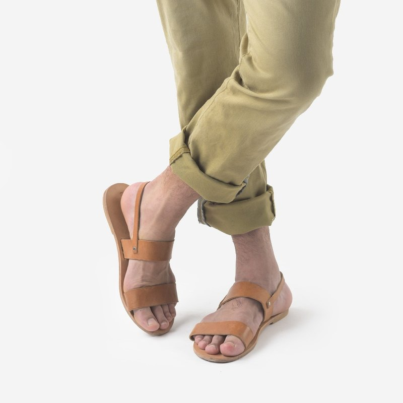 Love From Cyprus Greek Style Simple Handmade Leather Sandals Men