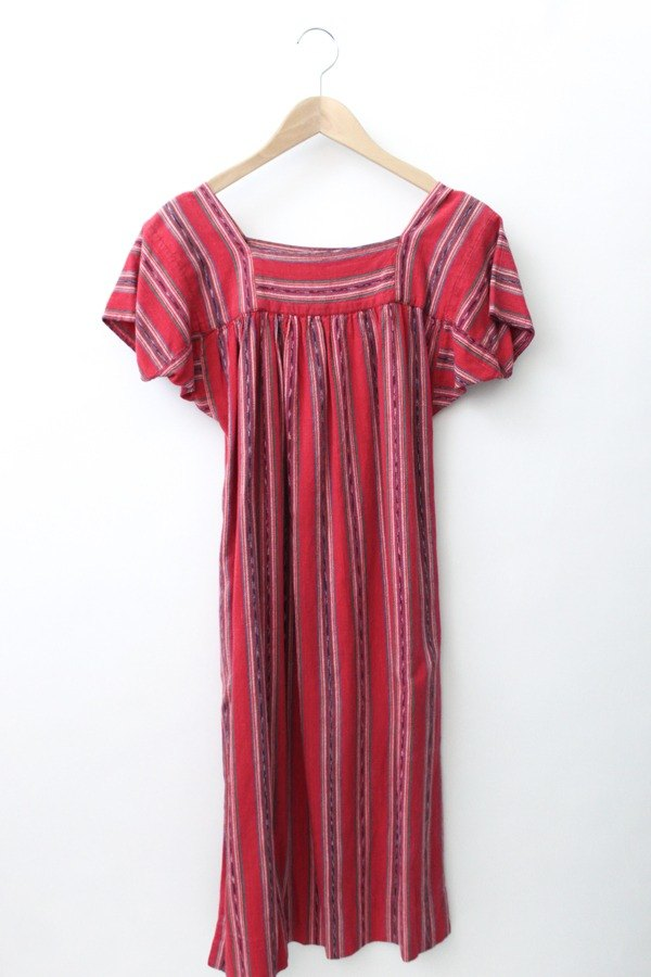 [RE0706MD025] US Air National provisions wind loose on red vintage dress