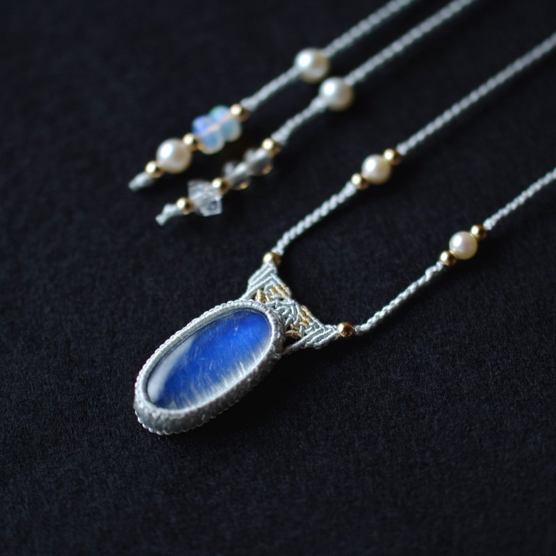 Moonstone / Silk Necklace