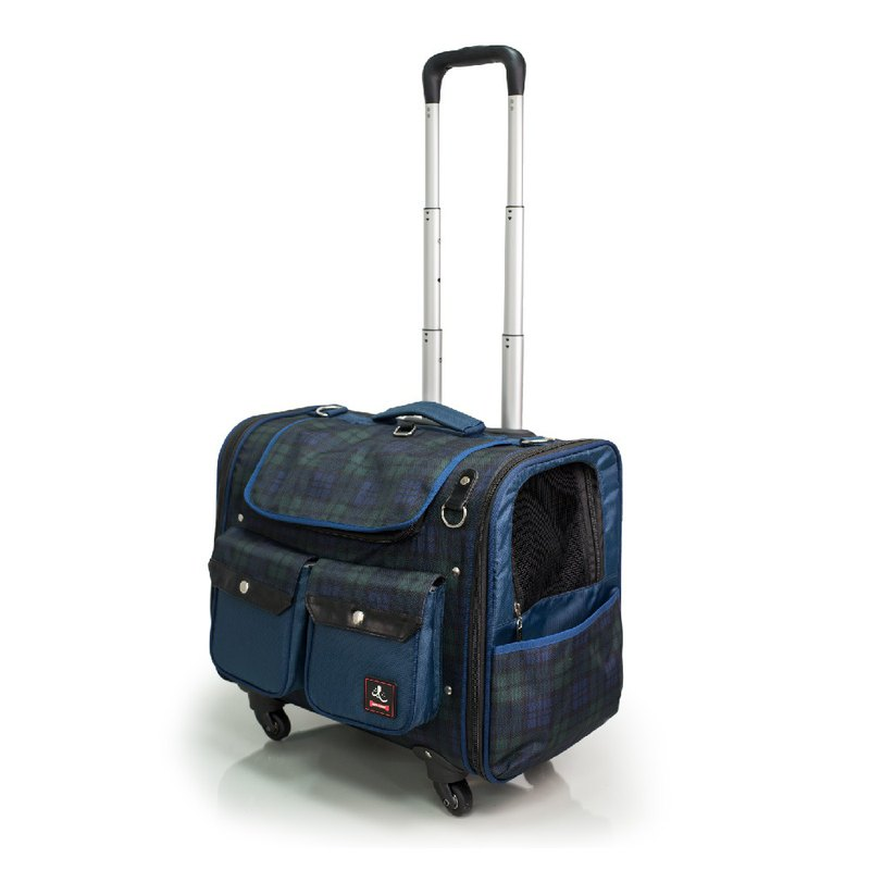 [An Qi circle] six kilograms on the window window pet trolley case _ Scottish pattern