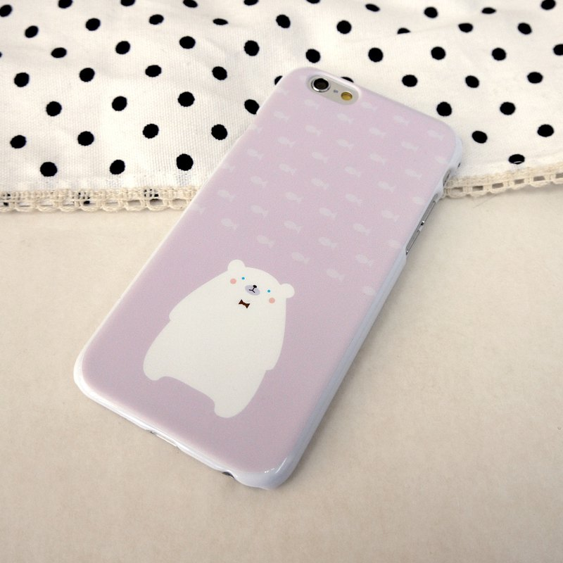 Cute Purple Polarbear phone case For iPhone and Samsung