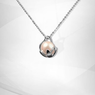 VOSHAS ZEN Collection [Hug] 925 sterling silver necklace