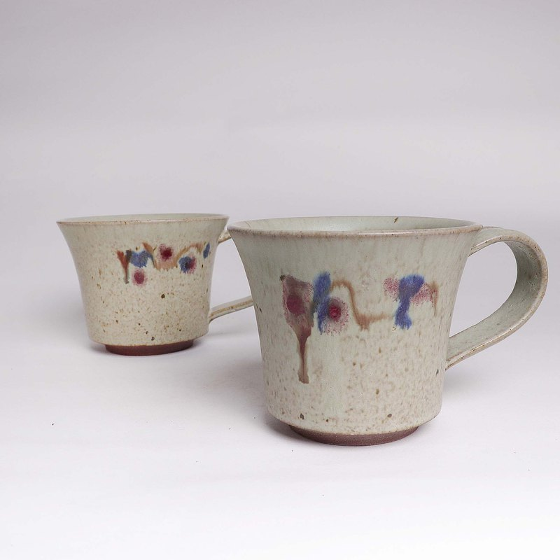 Ming bud kiln l pa the pigeon ash painted coffee cup to cup