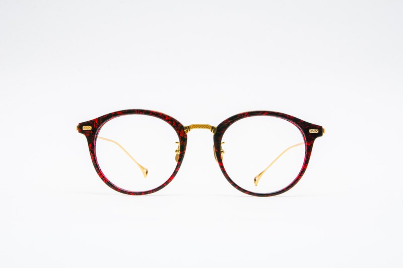 Big round frame glasses │ Canadian design - [titanium alloy elastic legs] - red