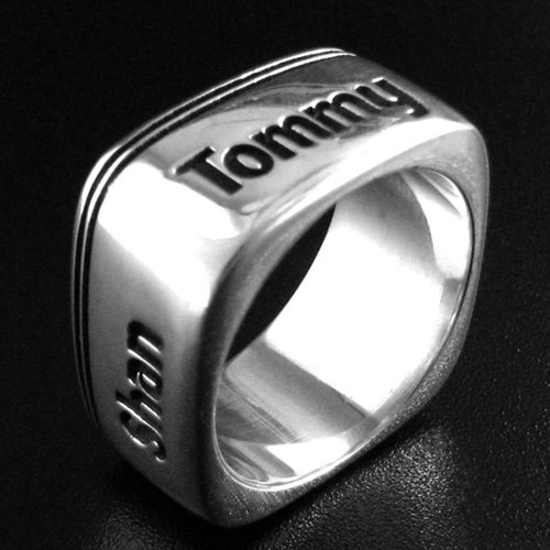 Customized .925 sterling silver jewelry RP00003- polygonal ring (Square Ring)