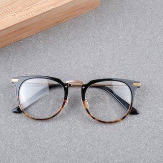 Korea Business Wild Frame Brow Frame Metal Brow Frame Glasses Frame Blue Stripe / Wine Red