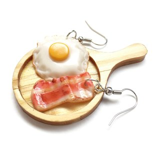 egg+becon earring