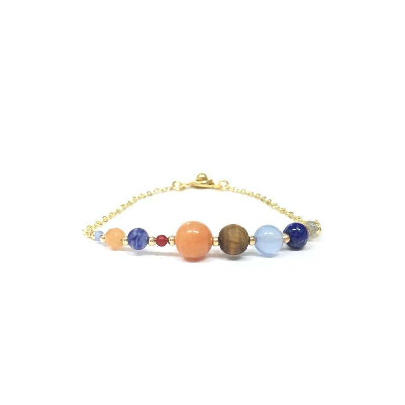 [Ruo Sang] [Little Universe] Nine planets. Handmade light jewelry. Natural stone fine bracelet.
