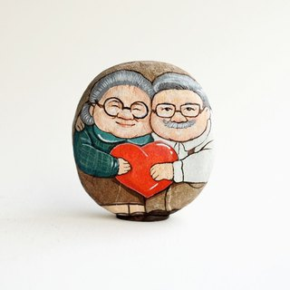 Couple love stone painting,Acrylic colour on stone.gift of love.