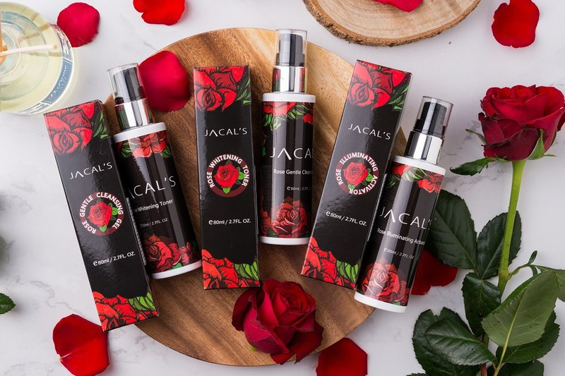 JACALS Rose Fragrance Skin Care Products Set