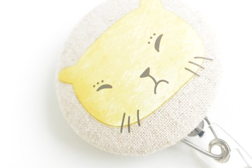 Telescopic handle cloth buckle purse - angry cat