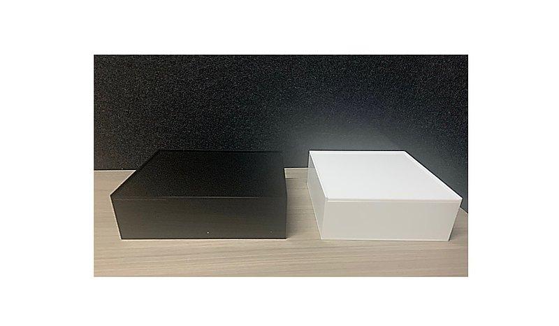 長方形收納盒/正方形收納盒/帶金屬把手收納盒/防塵壓克力收納盒/保養品收納櫃/壓克力置物盒/黑白壓克力收納組
