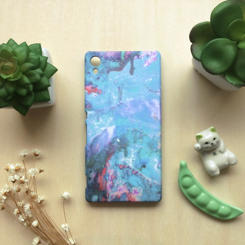 Sweet pink and ocean blue-green Oil painting. Matte Case (iPhone, HTC Samsung)