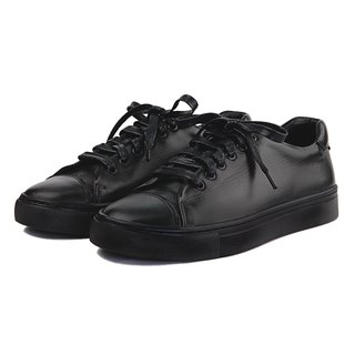 Mirako X Sweet Villians W1072 Black Leather Sneaker