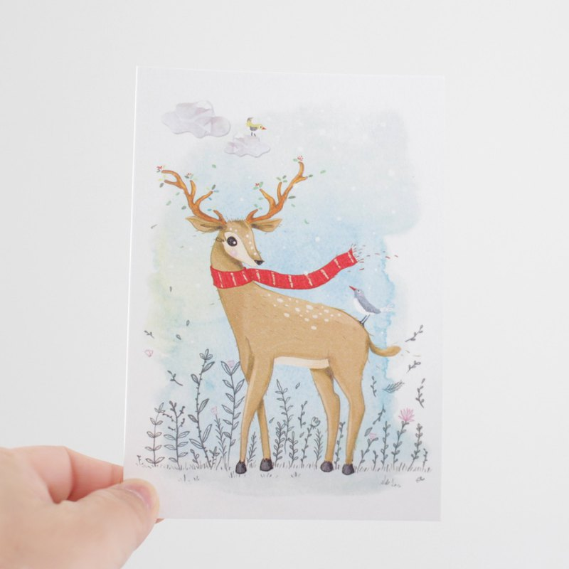 Elk, Golden Deer postcard